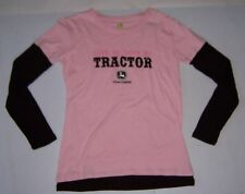 JOHN DEERE LOVE ME, LOVE MY TRACTOR WOMEN'S LONG SLEEVE T-SHIRT SIZES S & M  NWT