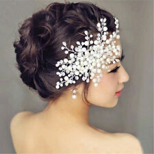 BRIDAL WEDDING CRYSTAL JEWEL DIAMANTE HAIR COMB CLIP SLIDE FASCINATOR PROM PARTY