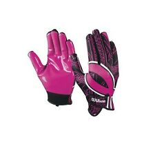 New WILSON Pink Ribbon NFL BCA Hope Receiver Gloves Superior Grip Youth XS - L
