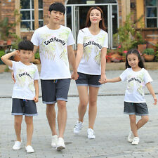 Summer cozy family sets Family clothes casual women girl men Boy t shirt pants
