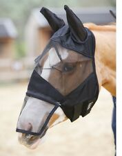 Fine Mesh Fly Mask w/ Ears & Removable Nosepiece for Horses - Cob or Full size