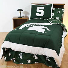 Michigan State Spartans Comforter Sham and Sheet Set Twin Full Queen Size CC