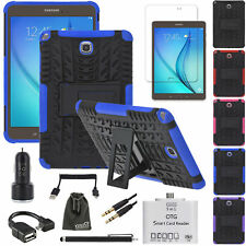 EEEKit Armor Stand Case+Film Guard+OTG+Car Charger for Samsung Galaxy Tab A 9.7