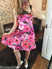New Women Ladies Large Plus Floral Skater (110) Party Swing Dress Size 8-24