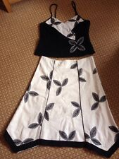 STUNNING 2 Piece Outfit FEE G Wedding Cruise Size 16 Linen Special Occasion