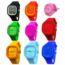 Unisex Colorful Jelly Silicone Fashion Quartz Wrist Watch  HY