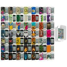 Design Hard Rubberized Snap-On Cover Case+Screen Protector for iPhone 4 4S 4G