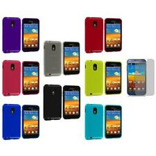 TPU Plain Cover+3X LCD Protector for Samsung Sprint Galaxy S2 S II Epic Touch 4G