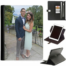 PERSONALISED LUXURY APPLE IPAD 360 SWIVEL I PAD LEATHER CASE COVER CARD SLOT