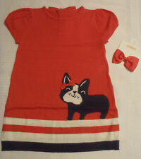 Gymboree Ciao Puppy Sweater Dress Bow Hair Clip NWT Size 5T 4T 3T 2T 18-24 Month