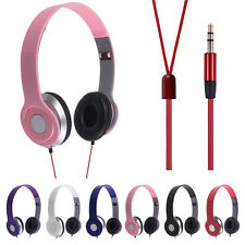 3.5mm Foldable Stereo Over Head Headphone Earphone Headset For PC Phone MP3 MP4