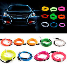 1M 3FT Neon LED Light Glow EL Wire String Strip Rope Tube Car Dance