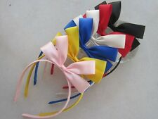 Childs Girls big bow satin ribbon bow hair Headband Hair Band AN16