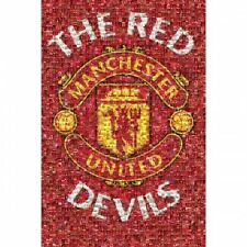 Manchester United FC Poster Mosaic 48 Football Soccer EPL