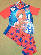 New Boys Licensed Marvel Spiderman Red Blue Pyjamas, Pjs, Sleepwear Sizes 4,5,6