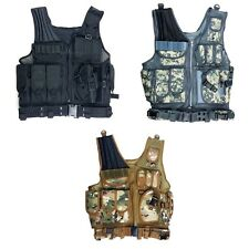 Tactical Hunting Combat Vest Lightweight With Holster Pouch With belt Fine