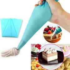 Reusable Cream Pastry Fondant Cake Silicone Icing Piping Bag Tool Decor 3 Size