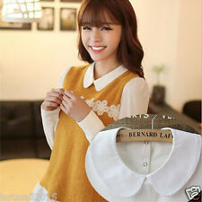 Women's Detachable Peter Pan Lapel Shirt Arts Fake False Collar Choker Necklace