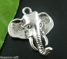 Gift Wholesale Silver Tone Elephant Charms Pendants