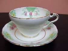 WELLINGTON BEST BONE CHINA CUP AND SAUCER PINK & YELLOW FLOWER DINNERWARE
