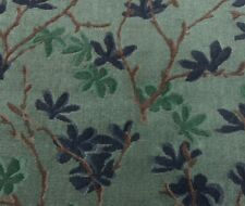 DONGHIA TRYST LIAISON BLUE HIGH END LINEN VELVET EXCLUSIVE FABRIC REMNANTS