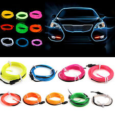 5M 15FT Neon LED Light Glow EL Wire String Strip Rope Tube Car Dance