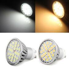 GU10 SMD 5050 24 LED Warm/White Spot Light Lamp Bulb 4W Energy Saving Dimmable