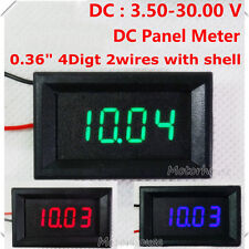 DC Panel 4 Digital LED Volt Voltage Meter Voltmeter Electric Car Battery 12V 24V