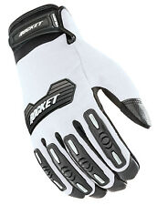 Joe Rocket Mens White/Black Velocity 2.0 Textile Motorcycle Gloves