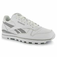 Reebok Classic Leather Clip Mens Shoes Trainers Wht/Grey Sneakers Footwear