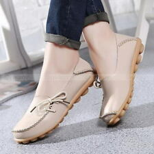 Womens Casual Large Size Flat Shoes Comfort Walking Bowed Loafers Moccasin