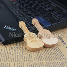 Custom Logo Wood Bamboo Guitar USB 2.0 Memory Stick Flash pen Drive 32GB 16GB