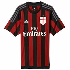Adidas AC Milan Home Jersey 2015 2016 Mens Black/Red Serie A Football Soccer