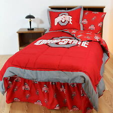 Ohio State Buckeyes Bed in a Bag Twin Full Queen King Size Comforter Set CC