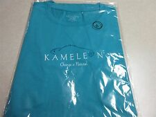 KAMELEON™ JEWELRY WOMEN'S LARGE SHORT SLEEVE T-SHIRT 100% COTTON BLUE OR WHITE