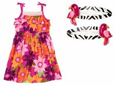 Gymboree 4 7 Wild For Zebra Girls Dress Hair Clip Outfit Set Lot New NWT