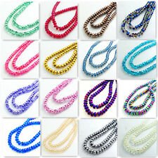 New Colors 40PCS Flat plane Spacer Crystal Glass Loose Spacer Beads 8mm DIY