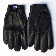 Kevlar-Lined Leather Motorcycle Gloves (Black) - USA MADE - Free Shipping (USA)!