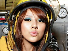 Hot Japanese Firefighter Girl Lips Kiss Gigantic Print POSTER