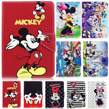 """Universal Mickey Minnie PU Leather Stand Case Cover For 7""""~7.9"""" Inch Tablet PC"""