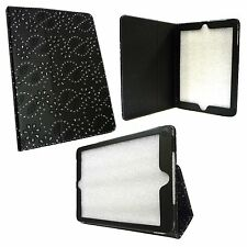 BLACK DIAMOND BLING GLITTER PU LEATHER CASE COVER FOR APPLE IPAD AIR
