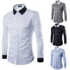 Stylish Men's Slim Fit Business Dress Shirts Casual Formal Shirt Long Sleeve New