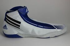 Men's Adidas adiZERO Sydney Wrestling Shoes White/Black/Royal Blue U42100 New!!!