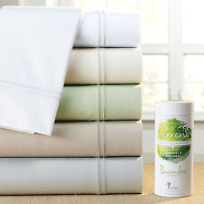 PureCare Elements Terrene Bamboo & Cotton 400T Sateen Sheet Set Ivory