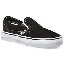 VANS KIDS CLASSIC SLIP ON BLACK TRUE WHITE YOUTH BOYS SKATE SHOES CLEARANCE