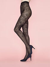 Fiore Bloom Patterned Tights 40 Denier Semi Opaque Powder Range Floral STW