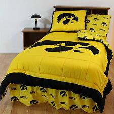 Iowa Hawkeyes Comforter Sham and Throw Blanket Twin Full Queen Size CC