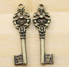 6/20/60 pcs wholesale Retro style lovely The key charms Pendants  51x15 mm