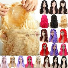 Party Wigs Long Curly Straight Full Wig Cosplay Costume Women Lady Blonde Red B9