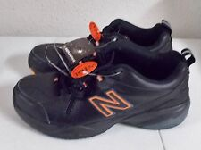NEW BALANCE 608v4 608 V4 MENS 7 2E WIDE Width Black Orange Leather NWT